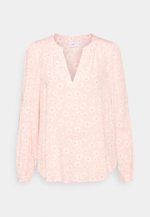 ZEN NECK - Long sleeved top - pink daisy
