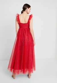 Maya Deluxe - GLITTER MAXI DRESS WITH RUFFLE SLEEVE - Occasion wear - red/gold - 3