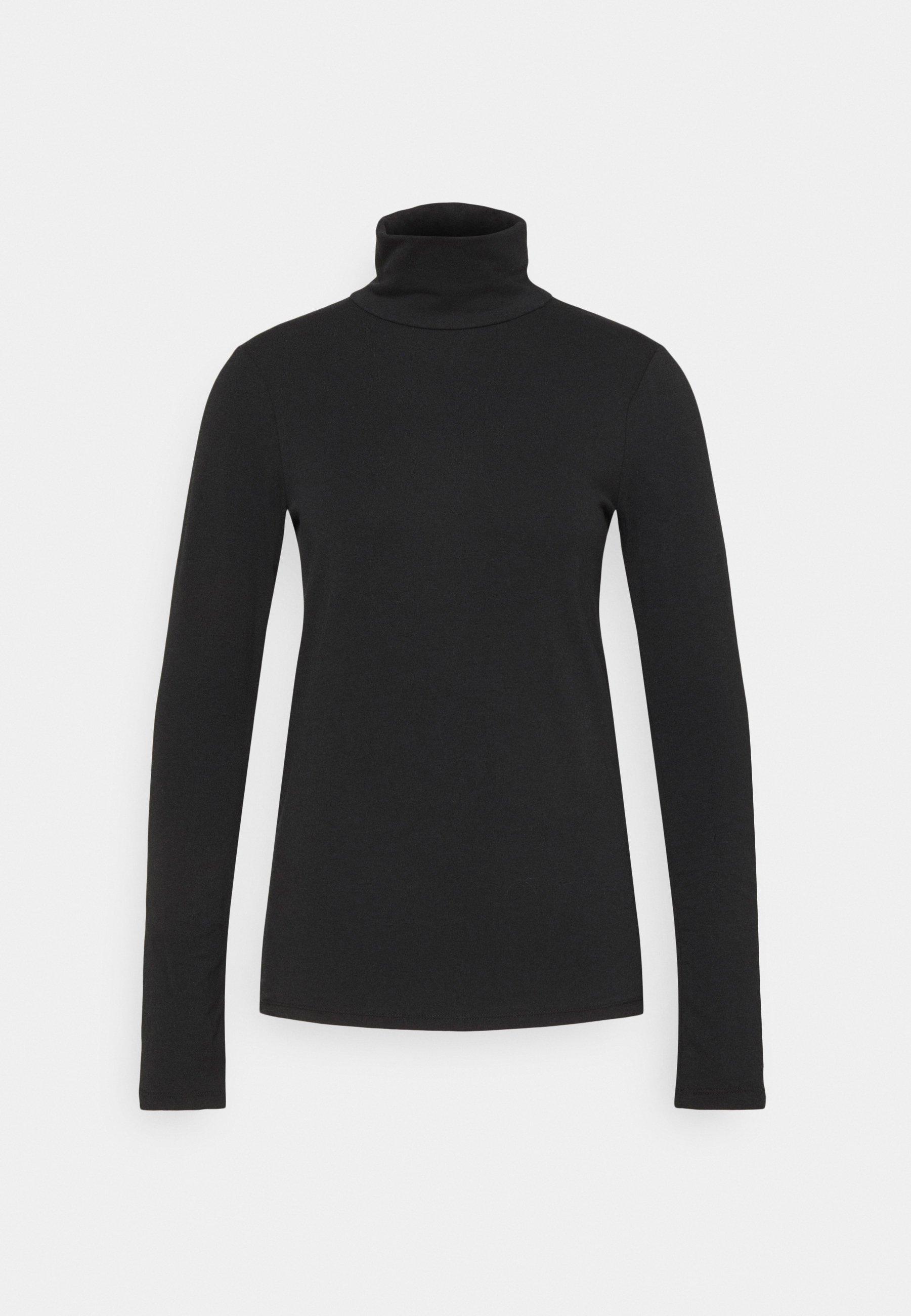 Women Long sleeved top - true black