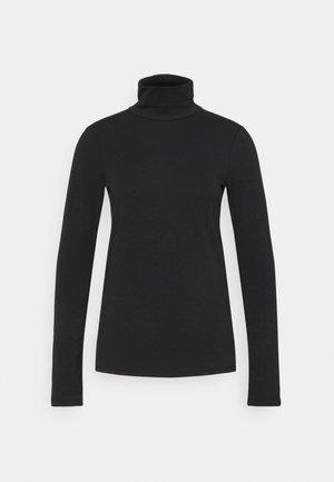 Langærmede T-shirts - true black