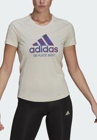 adidas Performance - Print T-shirt - sand - 2