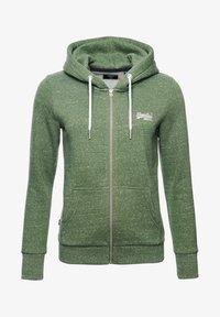 Superdry - ORANGE LABEL - Zip-up hoodie - washed khaki snowy - 4