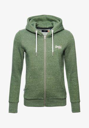 ORANGE LABEL - Zip-up hoodie - washed khaki snowy
