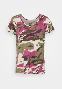 G-Star - VNECK - Print T-shirt - whitebait pop multi - 4