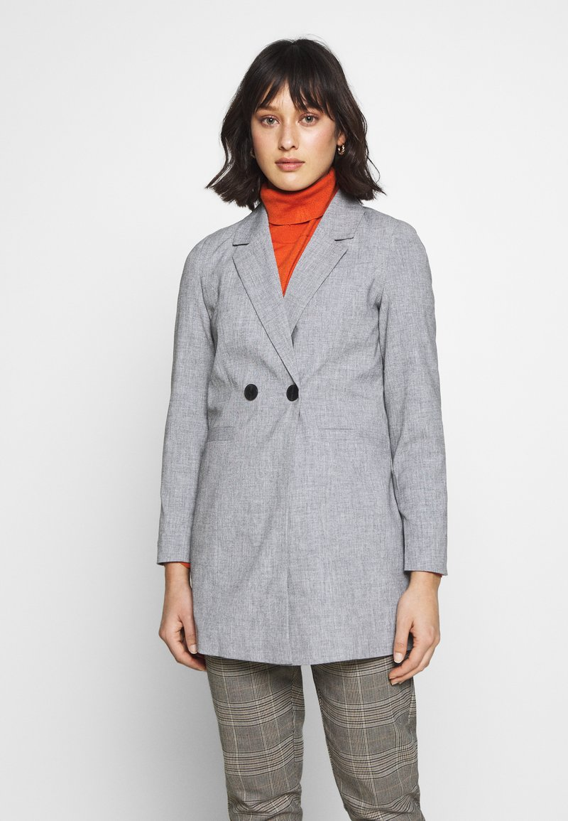 Vero Moda Petite - VMDORIT JACKET BOOS - Short coat - light grey melange