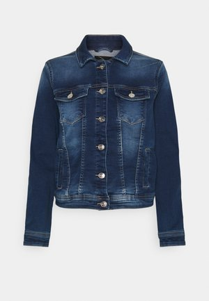 ONLTIA LIFE JACKET - Denim jacket - dark blue denim