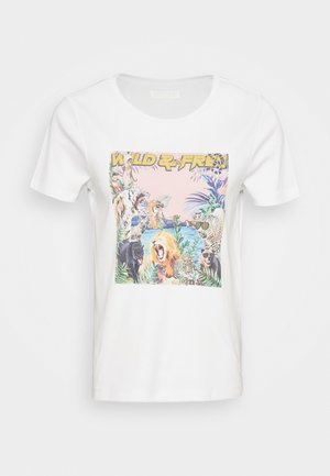 NMSAGA NATE  - Print T-shirt - bright white