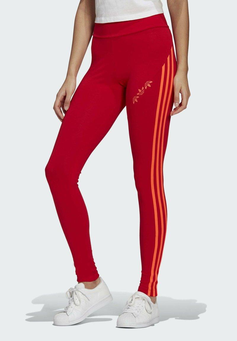 adidas Originals - HW TIGHTS - Legging - scarlet/semi solar red