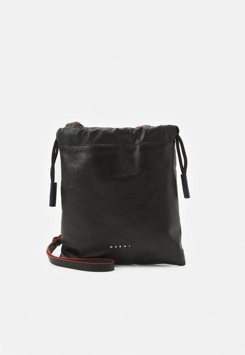 Marni - MUSEO SOFT DRAWSTRING - Across body bag - black/navy blue
