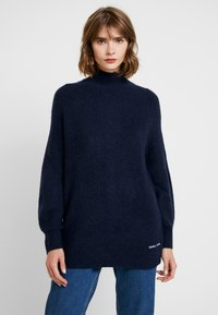 Tommy Jeans - LOFTY TURTLE NECK - Pullover - black iris - 0
