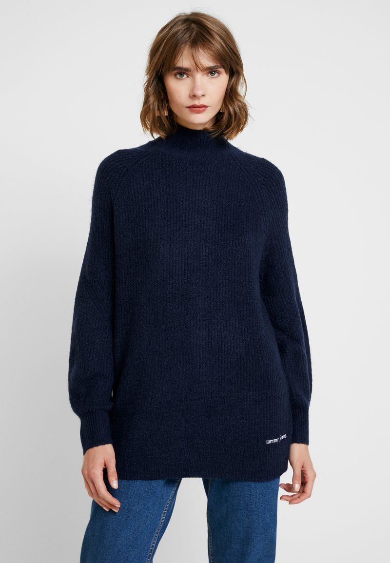 Tommy Jeans - LOFTY TURTLE NECK - Pullover - black iris