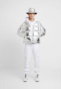 Napapijri - ART METALLIC - Zimní bunda - silver - 1