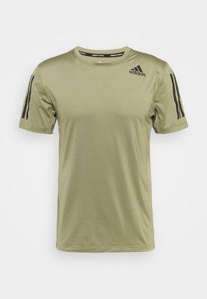 T-shirt med print - orbit green