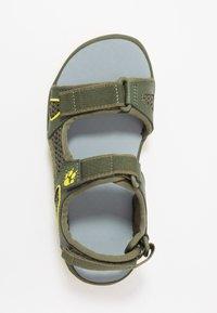 Jack Wolfskin - TARACO BEACH - Chodecké sandály - khaki/lime - 1