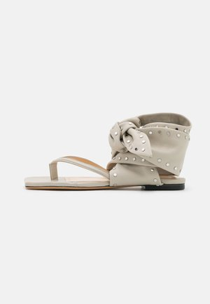 ARZON - T-bar sandals - light grey