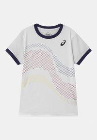 ASICS - TENNIS UNISEX - Print T-shirt - brilliant white - 0