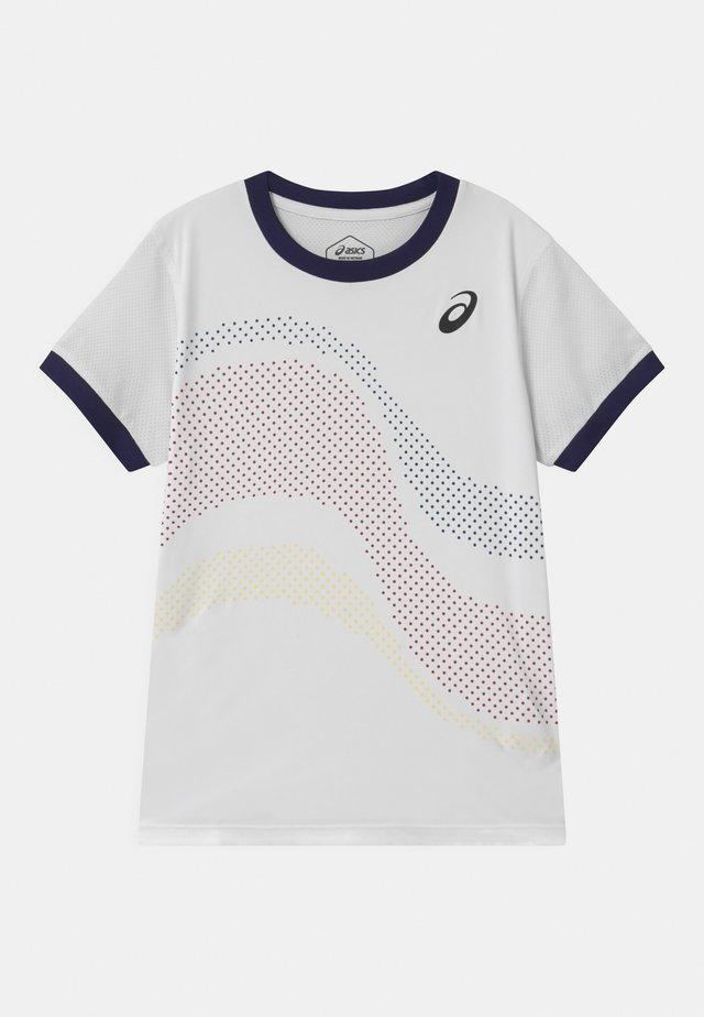TENNIS UNISEX - Print T-shirt - brilliant white