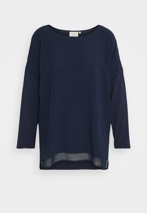 KASOLY CROPPED - Long sleeved top - midnight marine