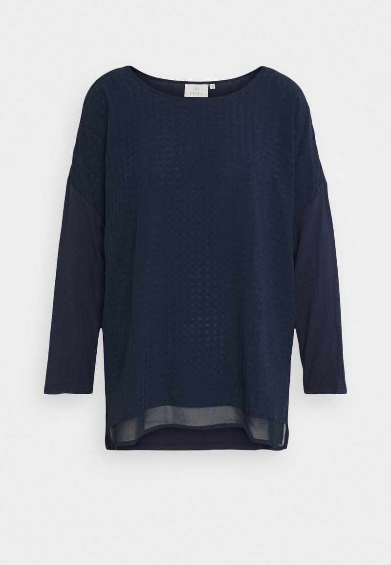 Kaffe - KASOLY CROPPED - Long sleeved top - midnight marine