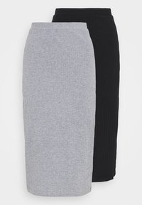 Even&Odd - 2 PACK - Pencil skirt - black/mottled grey - 5