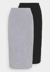 2 PACK - Pouzdrová sukně - black/mottled grey