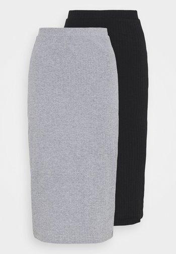 2 PACK - Kokerrok - black/mottled grey