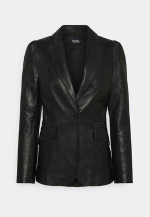 FASHION - Leather jacket - black