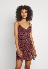 Even&Odd - 2 PACK - Sukienka z dżerseju - black/multi-coloured - 1
