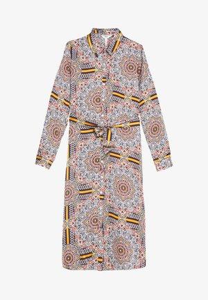 OBJAMELIA DRESS TALL - Shirt dress - gardenia/muliti colour