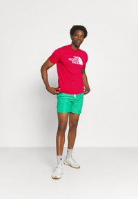 The North Face - M S/S EASY TEE - EU - T-shirt med print - rococco red - 1