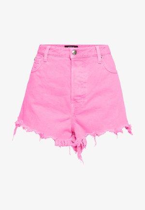 Denim shorts - neonpink