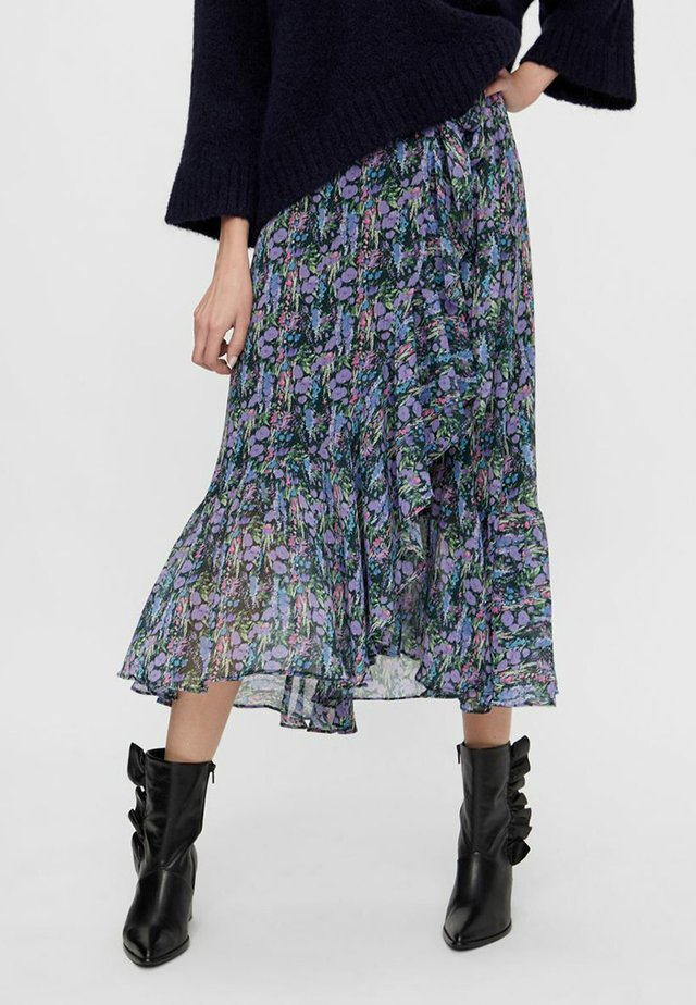 YSESMERALDA - Wrap skirt - black
