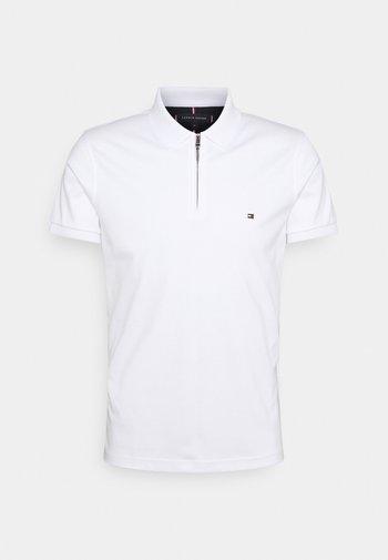 INTERLOCK ZIP SLIM  - Polo shirt - white