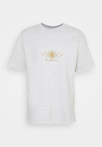 CHUNKY TEE - Print T-shirt - grey melange