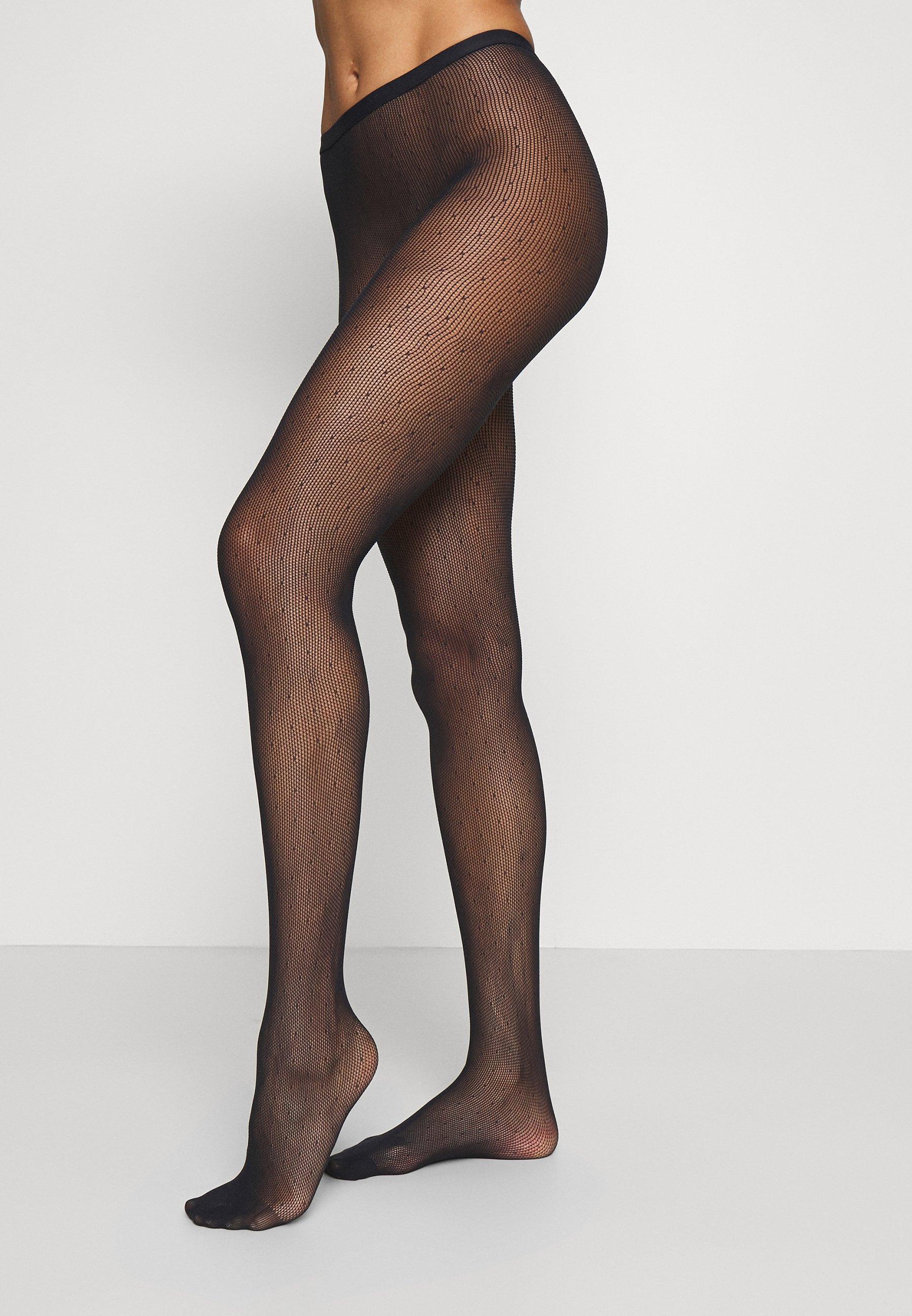 Femme FALKE PLUMETIS STRUMPFHOSE FEIN SCHWARZ - Collants