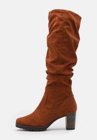 Tamaris - BOOTS  - Platform boots - brandy - 1