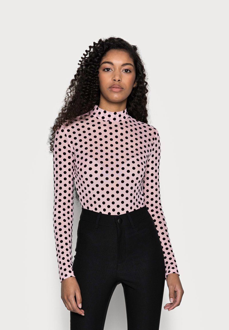 Missguided Petite - SPOT BODYSUIT - Blouse - baby pink