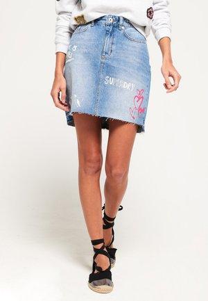 SKIRT - Denim skirt - light blue