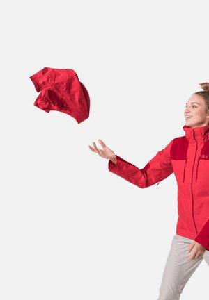 JASPER JKT W - Waterproof jacket - tulip red