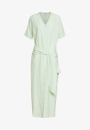 PCMELIKKA ANKLE DRESS - Vestido camisero - cloud dancer/pastel green