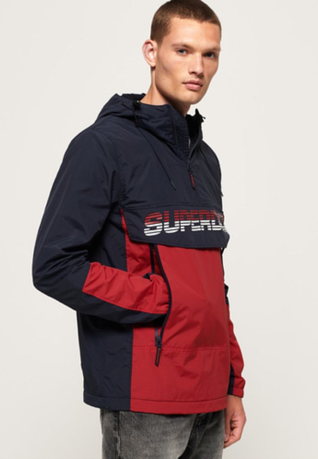 Veste coupe-vent - navy/red