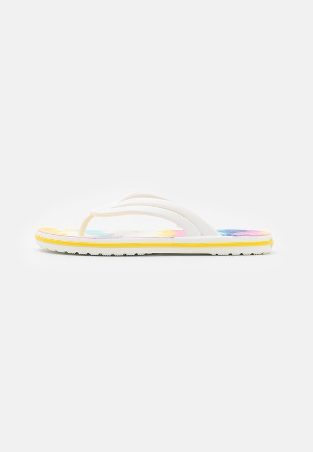 CROCBAND TIE DYE FLIP  - Teensandalen - white/multicolor