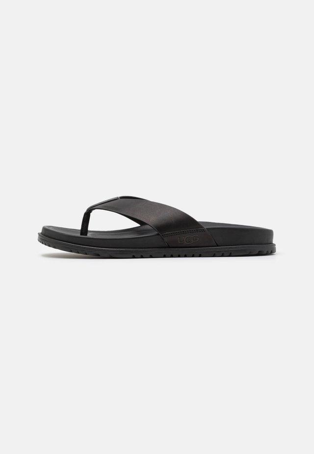 WAINSCOTT FLIP - T-bar sandals - black