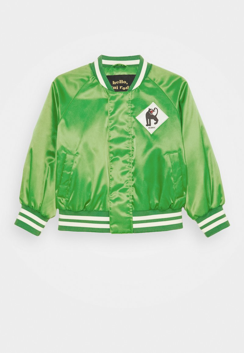 Mini Rodini - PANTHER BASEBALL JACKET UNISEX - Lehká bunda - green