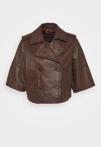 VENETO - Leather jacket - bronze