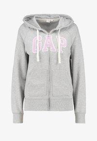 Gap Tall - Mikina na zip - light heather grey - 3