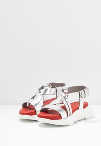 Sportmax - ARDEA - Platform sandals - argento - 4