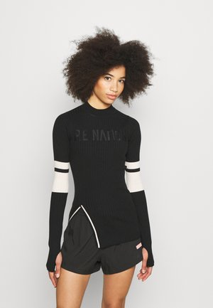COURTSIDE - Long sleeved top - black