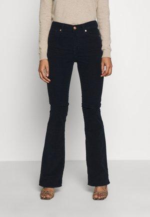 MARIE - Spodnie materiałowe - navy