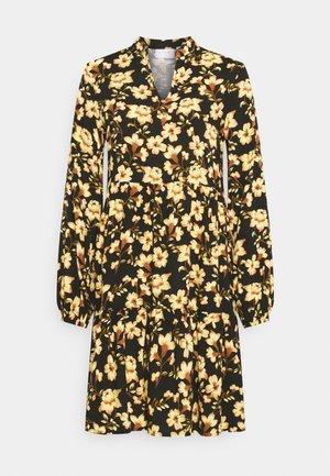 VILANA DRESS - Day dress - black/yellow